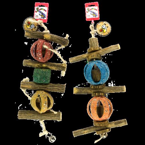 Birrdeeez Double Circus Ball & Sekelbos Toy