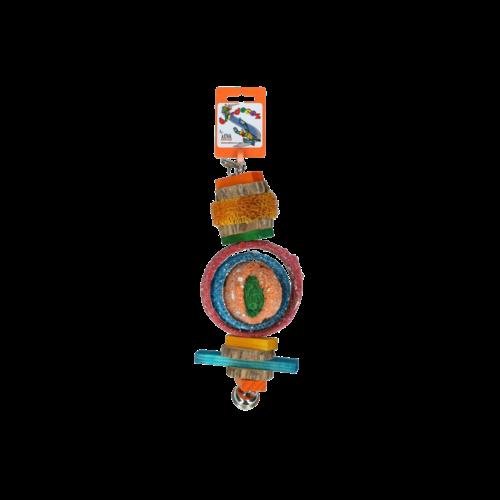 Birrdeeez Papegaai speelgoed rondhout/zaad Big
