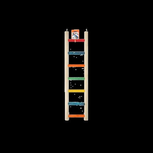 Birrdeeez Parrot Ladder 7 step All Wood