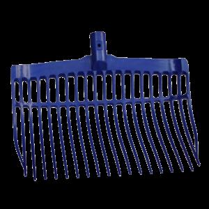 Mestvork kunststof blauw zonder steel