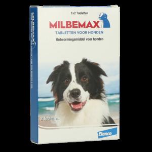 Milbemax Tabletten Hond Groot 2 tabl. 5-75kg