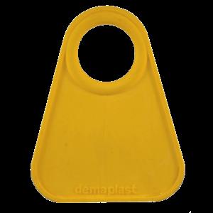 Nekplaatje blanco geel Flexi