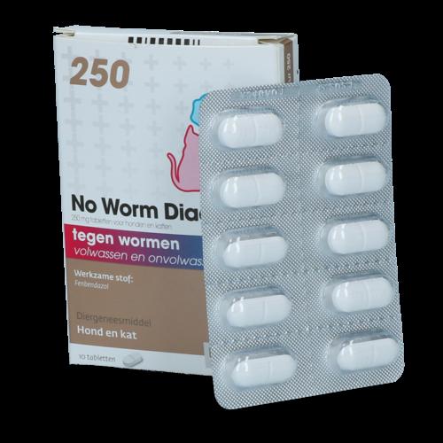 No Worm No Worm Diacur 250 Mg 10 Tabl