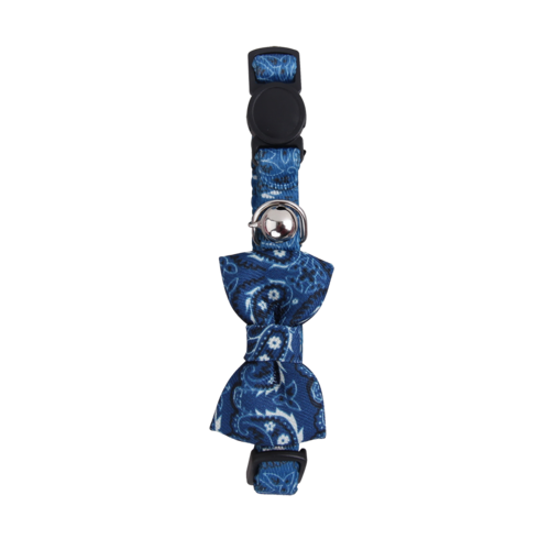 Pawise Cat collar w/Bowknot blauw