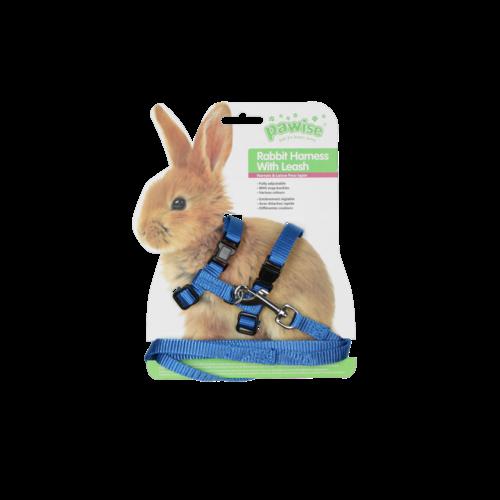 Nylon harness for rabbit ass blue
