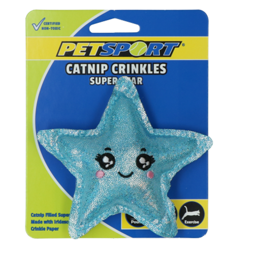 Petsport Catnip Crinkles - Super Star