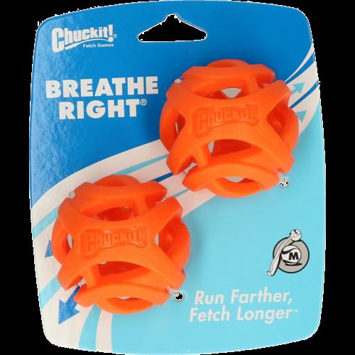 Chuckit Breathe Right Fetch Ball Medium 2 pk