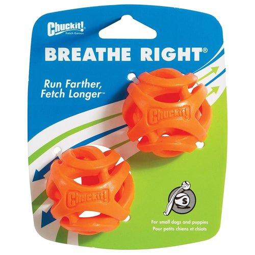 Chuckit Breathe Right Fetch Ball Small 2 pk
