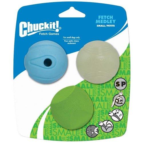 Chuckit Fetch Medley S 5 cm 3 Pack