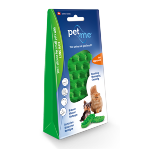 Pet en Me Brushes Pet+Me Cat long hair brush green