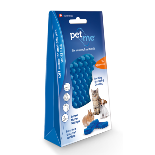 Pet en Me Brushes Pet+Me Cat short hair brush blue