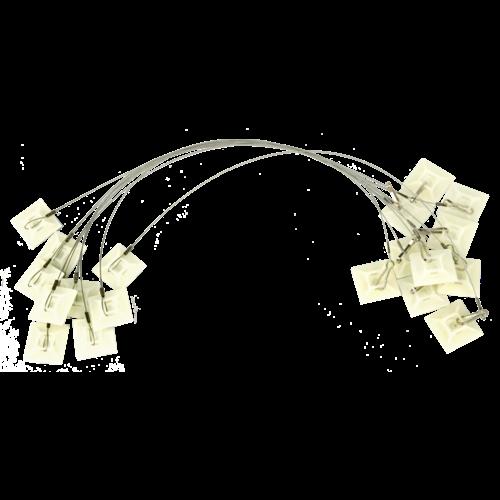 Plak-anker voor voerdoos tweezijdig 25cm + haak (set=10st)