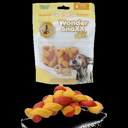 Healthy Chews Wonder Snaxx MINI Braid kaas en spek