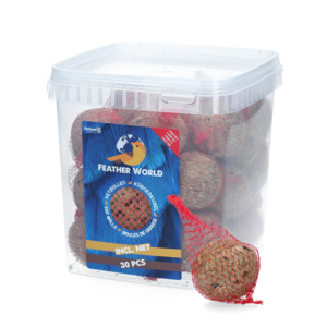 Feather world Feather World insecten mezenbol incl. net (rood)