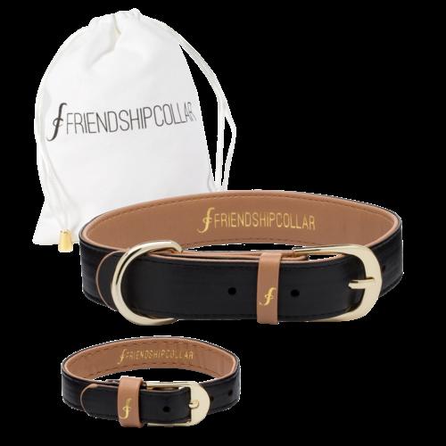 Friendship Collar Classic Pup Jet Black XL