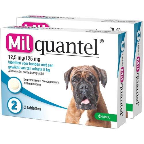 Milquantel 12,5 mg/125 mg Hond Groot 4 tabl. 5-75kg