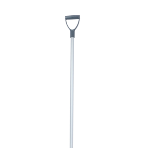 V-Plast Mestvork steel alum. 95 cm met donkergrijs handvat
