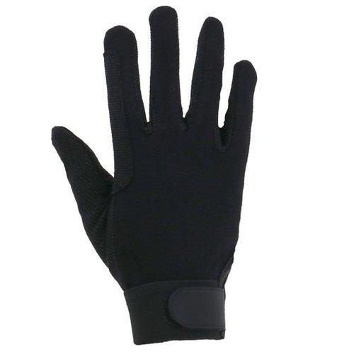 Rijhandschoen katoen XS zwart jersey