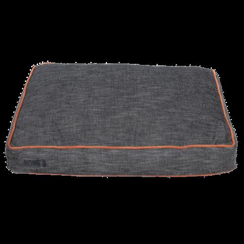 KONG Rectangle Beds Small, grijs met oranje lijn