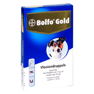 Bolfo Bolfo Gold 100 hond (4 - 10 kg) - 4 pip