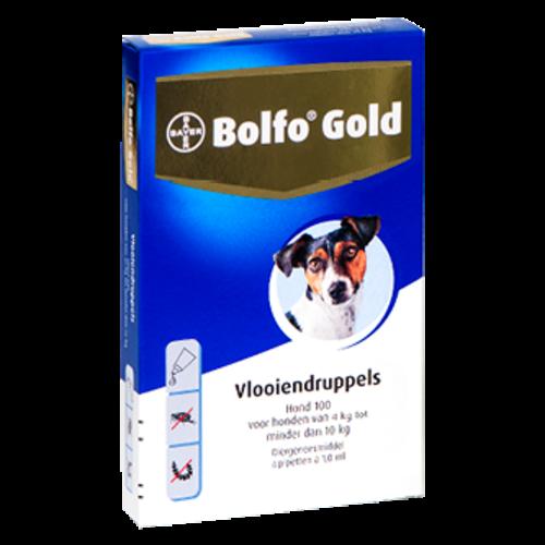 Bayer Bolfo Gold 100 hond (4 - 10 kg) - 4 pip