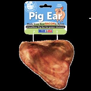 Pet Qwerks Pet Qwerks  Bacon Pig Ear - Large