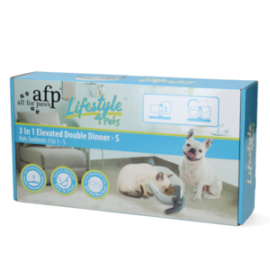 AFP AFP Lifestyle 4 Pet-3 In 1 Elevated Double Dinner - S