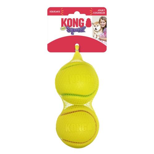 KONG KONG Squeezz® Tennis Assorted Md 2pk