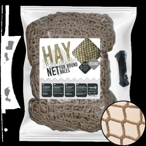 Holland Animal Care Hay Slowfeeder net speciaal voor ronde baal