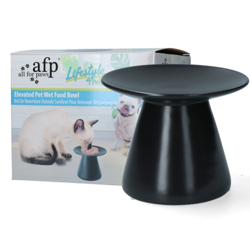 AFP Lifestyle4Pets - Elevated Pet Wet Food Bowl - Charcoal