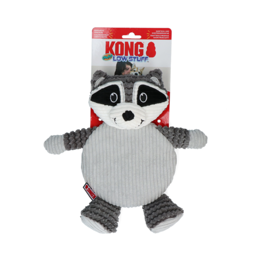 KONG KONG Low Stuff Crackle Tummiez Raccoon Lg