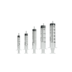 Luer Wegwerpspuit 3-delig Luer hub 2-3ml