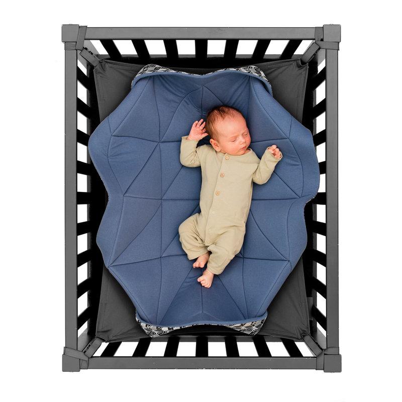 Hangloose Baby - babyhangmat / boxkleed - Stiffkey blue