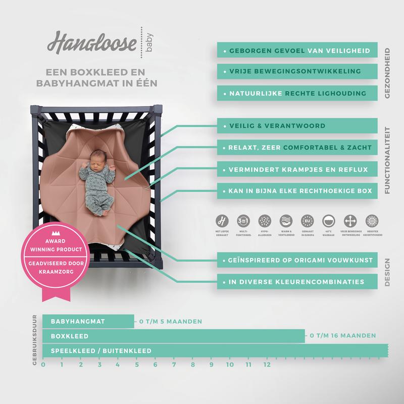 Hangloose Baby - Babyhängematte / Krabbeldecke - Pinky Feather