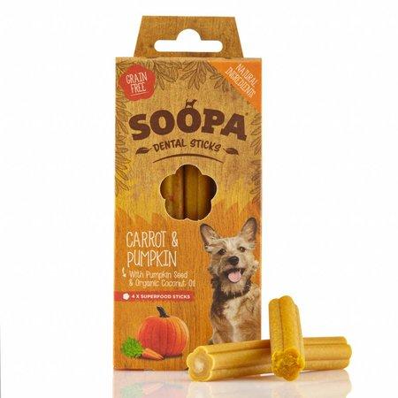 Soopa  Soopa dental kauwsticks van wortel en pompoen