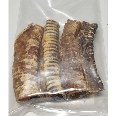 Ozzlesdogfood  Gedroogde runderluchtpijpen van plm. 15 cm lang