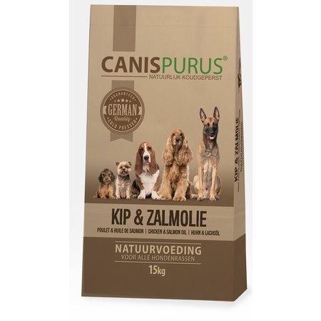 Canis Purus LEVERBAAR MEDIO WK 22 |Koud geperste brok van kip & zalmolie