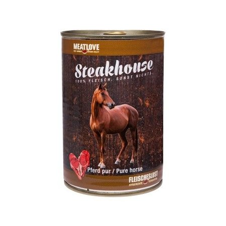 Steakhouse Steakhouse gestoomd blikvoer van 100% paard