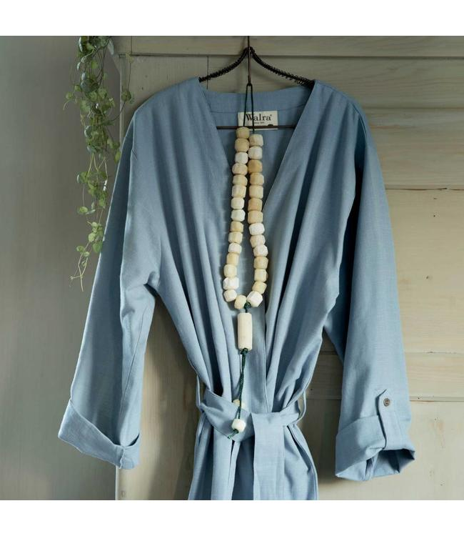 Dutch Decor Badjas Robe L/XL blauw
