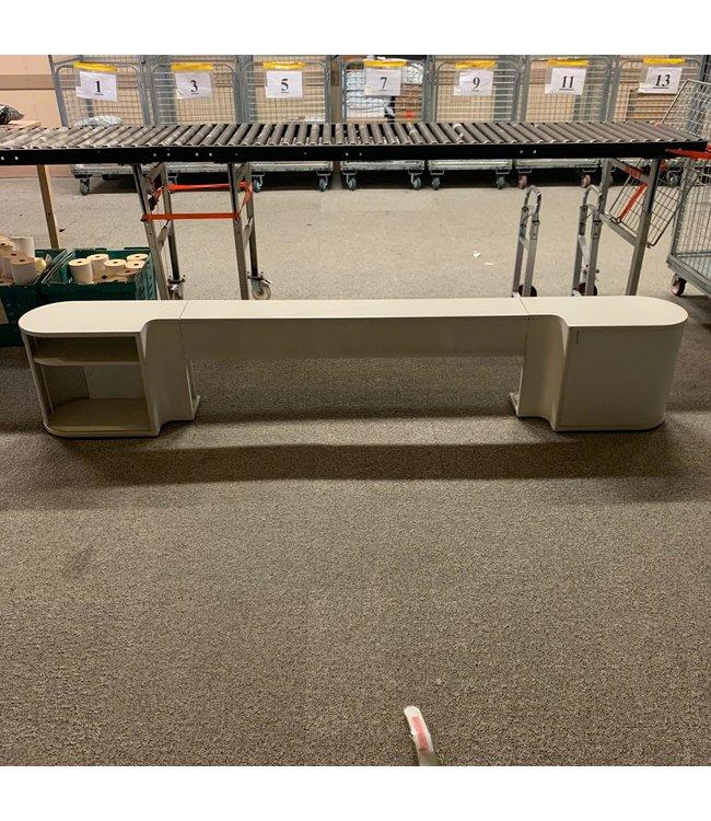 Auping Auronde Wit lage  achterwand 160 cm