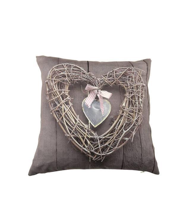 Hearts Hanger Kussen Taupe