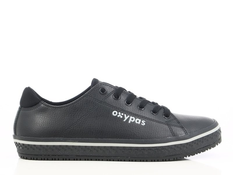 oxypass Oxypas Sneaker leer Clark Zwart