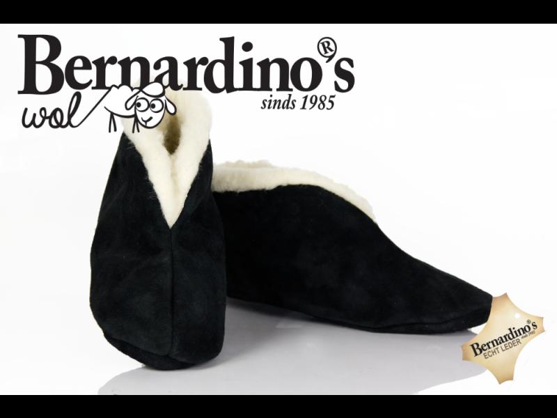 Bernardino Spaanse Slof art. 916 Wol gevoerd Zwart