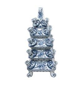 Couche vase bleu