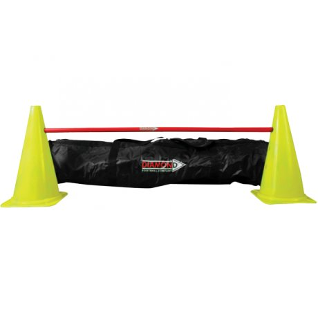 Diamond Football Agility Set  5 stokken en 10 pionnen