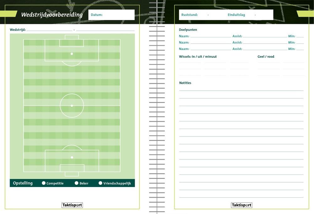 Taktisport Voetbalcompetitieboek + trainersboek