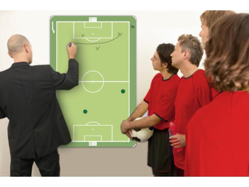 Taktiekbord  Voetbal met groene opdruk  in 4 maten