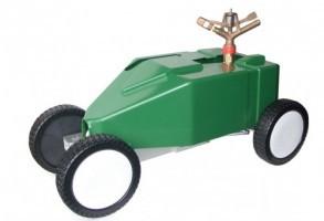 Professionele Beregeningswagen King voor voetbalvelden inclusief slangen en toebehoren.