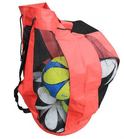 Ballenzak - voor 12 ballen (6 kleuren)