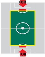 Taktisport Flexibele Speelveldmarkering Senior: elastische speelveldmarekering op haspel, 150 meter inclusief haringen